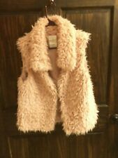 Vintage Blog pink faux vest fur with collar size M, L