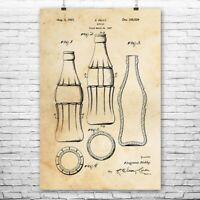 Classic Cola Bottle Poster Print Soda Shop Art Restaurant Decor Bottler Gift