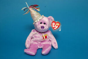 TY Beanie Baby 'FEBRUARY' Birthday Bear Retired with Protected Tags FWMT /PR-06