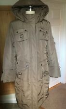 Golden Taupe Winter Cargo Military Hooded Coat In Size Large by New York & Co.