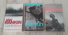 Ian Rankin, Let It Bleed, A Question Of Blood, Knots & Crosses Paperbacks