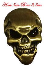 ☼ METALL Totenkopf Schädel 3D Aufkleber Gold Skull Auto PKW Sticker Emblem