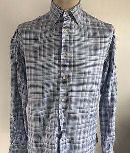 ETRO Mens Check Shirt Size 40 / Medium