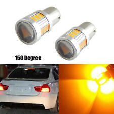 2X 1156 P21W BA15S 18-SMD BAU15S 7507 Yellow LED Turn Signal Lights Bulbs Canbus
