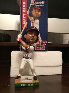 Matt Kemp #27 Atlanta Braves 2017 Bobblehead MIB NORTHSIDE HOSPITAL