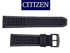 Citizen  CA0467-46E ECO-DRIVE BLACK watch band 23mm STRAP white stitches
