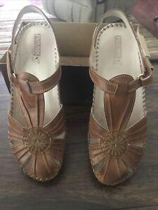 NIB Pikolinos Puerto Vallarta Brandy Shoes Sandals Women US Size 10 EU41