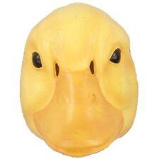 Duck Plastic Half Mask Bird Bright Yellow Pvc Costume Accessory Farm Child Adult