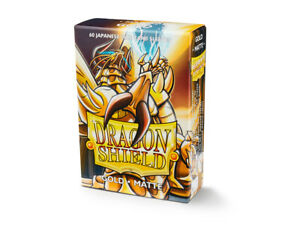 Japanese Matte Gold 60 ct Dragon Shield Sleeves YuGiOh Size 10% OFF 2+