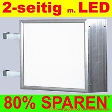 LED Leuchtwerbung 2-seitig beleuchtet 800 x 900 x 138 mm Aussteller Nasenkasten