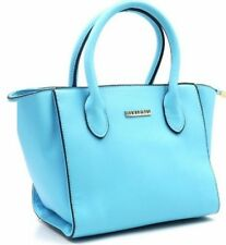 Fashionable Synthetic Leather Bag Sling Top Handle Bag 358 (Blue)