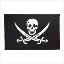 """Jolly Roger Pirate Flag Banner - Wall Art - 25"""" x 38"""""""