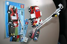 LEGO 7239 Town City Fire Truck with Rescue Boat 2 Minifigures complete boxed