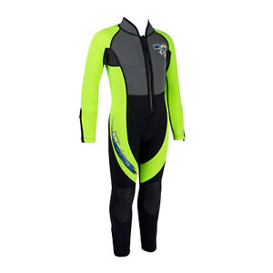 IST WSK-80 Kids 3mm Full Length Wetsuit with Super Stretch Panels Snorkel Swim