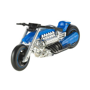 "Hot Wheels X4221-7719 Moto ""Ferenzo"" Azul / Cromo Escala 1:18 Nuevo !°"