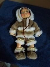 "2002 Naber Kids Kenai #466 Handcrafted Doll 16"" Wood Hsn Limited Ed"