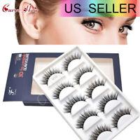 3D FAUX MINK FAKE EYELASHES 5PAIRS 100% hand-made false lashes strip eyelash