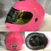 New DOT WOW Motorcycle Full Face Helmet Street Bike PINK S M L XL