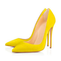 Onlymaker Womens High Heel Suede Pointy Toe Stilettos Shoes Pumps Slip On US5-15