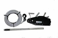 800kg Wire Rope Pulling Hoist/ Winch c/w 20M Wire Rope