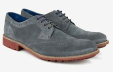 Ted Baker London Mens Hontaar Oxford Wingtip Brogue Shoe Gray Suede Size 8 NEW!