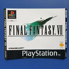 Final Fantasy 7 VII - Sony PlayStation One PS1 Front Inlay Artwork
