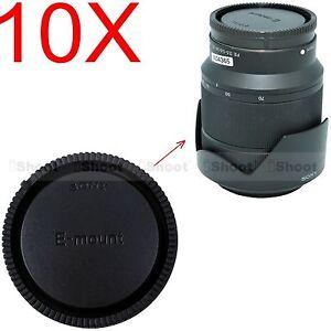 10pcs Rear Cap Cover for Sony Micro SLR Camera E FE SEL Mount Lens FE24-70/4