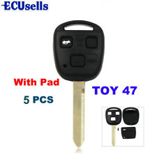 5PCS Remote Key Shell for TOYOTA Yaris Avensis 3 Button Case Fob with Button Pad