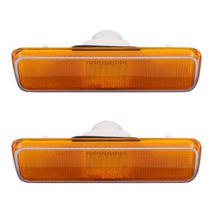 New Pair Front Signal Side Marker Light Lens for Dodge Plymouth SUV Pickup Truck