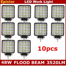 10X 48W FLOOD LED Off road Work Light Lamp 12V 24V Car Boat Truck Driving UTE