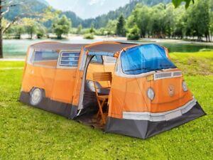VW Volkswagen Bulli T2 Bus Tent For 3 Person Camping Campsite New Orange
