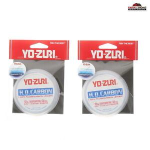 """(2) Yo-Zuri HD Fluorocarbon Leader 30 Yards 12# Pink ~ 0.012"""" Diameter ~ NEW"""
