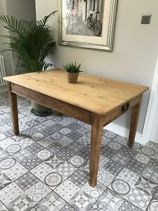 Victorian Pine Scrubbed Top Table