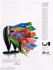 PUBLICITE ADVERTISING 105 2008  LG  home cinéma HT 335