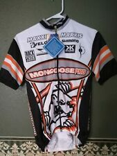 Biemme Cycling Jersey Full Zip SS, Black / Orange / White NWT