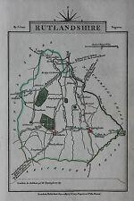 Original antique map RUTLANDSHIRE, OAKHAM, UPPINGHAM, STAMFORD, John Cary, 1819