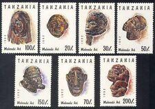 Tanzania 1992 Makonde Arte/Wood CARVING/Tribale/Artisti/Statua Set 7 V (n39888)