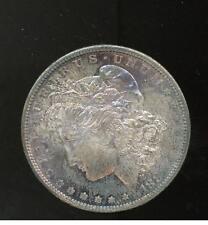 1881 S United States Morgan Silver Dollar Gold Toning