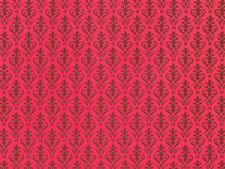 1:12 scale Dolls House Wallpaper Victorian Red PP158