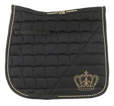 USG Tapis de selle coton couronne - Pony/Pur-sang Polyvalence - noir