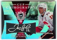 Jarome Iginla 08 The Cup Chirography Auto 9/50 Flames