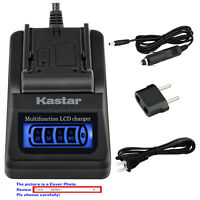 Kastar Battery LCD Quick Charger for Nikon D40 D40x D60 D3000 D5000 & BG-2A Grip