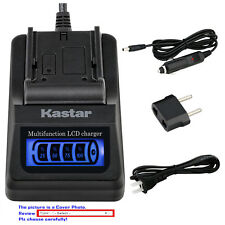 Kastar Battery LCD Quick Charger for Sony NP-QM91D & Cyber-shot DSC-F828 DSC-R1