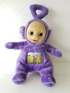 TELETUBBIES Purple Tinky Winky Plush 1996 Tomy Hologram Changing Picture 36cm