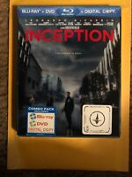 INCEPTION (Blu-ray+DVD, 2010, 2-Disc) Leonardo Dicaprio, Brand New!