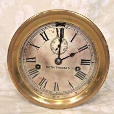 Vintage Seth Thomas Double Spring Railroad Clock Not Running