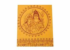 Religious Shawl Hindu Orange Throw Wrap Prayers Shiv Parivar USA Seller