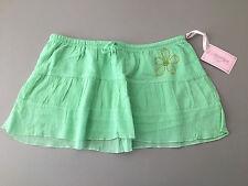 NEW Brooklyn Girl Juniors Medium Green Cotton Gauze Micro / Mini Skirt Cover Up