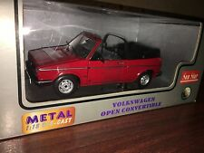 cabriolet golf 1/18 diecast rare red colour  volkswagen new in box never open