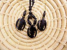 African Gye Nyame Adinkra Necklace and Earrings Set tribal ethnic boho jsgl
